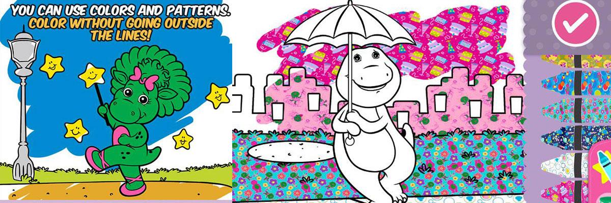 JuegosArgentinos.org - Color with Barney