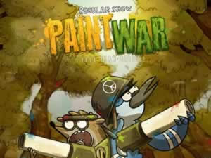 Regular Show Paint War
